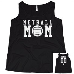 Custom Netball Mom Shirt Plus Size With Back Number