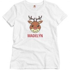 Custom christmas reindeer shirt