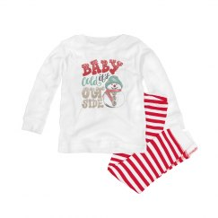 Baby it's cold outside pajamas for infants
