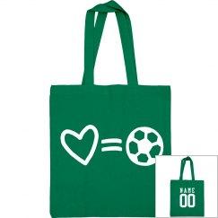 Love Soccer Mom Custom Tote Bag