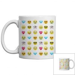 Emoji Pattern Mug