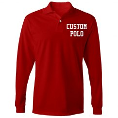 Personalized Long-Sleeve Polo