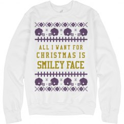 Smiley Face Jackson Ugly Sweater