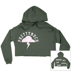 Prettymuch crop top hoodie