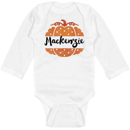 65dd73929 Custom Name Halloween Bodysuit Infant Long Sleeve Baby Rib Bodysuit