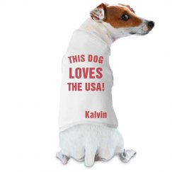 This Dog Loves The USA