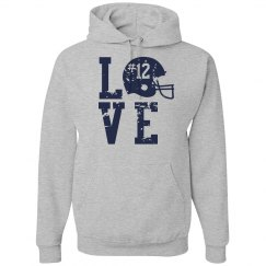Custom Football Love Hoodie