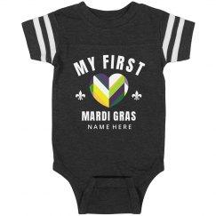 Custom My First Mardi Gras Heart