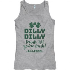 Custom Dilly Dilly St. Pat's Tank