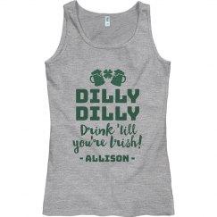 Custom Dilly Dilly St. Pat's Tank
