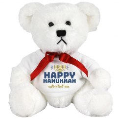 Happy Hanukkah Custom Text Bear