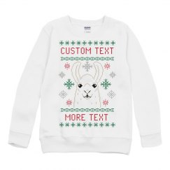Toddler Ugly Llama Sweater