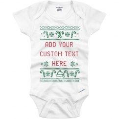 Custom Text Ugly Onesie Design