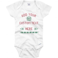 Custom Christmas Snowflake Bodysuit