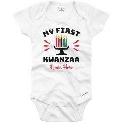 Baby's First Kwanzaa Custom Onesie
