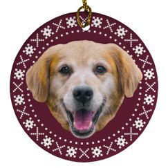 Cute Custom Pet Face Christmas