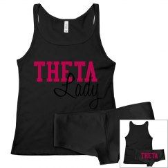 Theta lady tank & panty set
