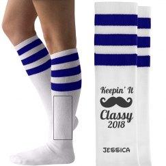 Classy Senior Custom Socks