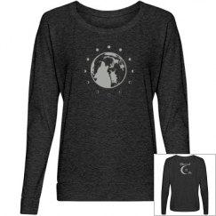 Blessed Be Moon Ladies Sweatshirt