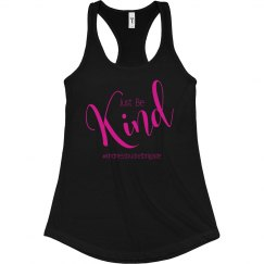 Just Be Kind racerback tank