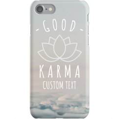 Custom Good Karma iPhone Case
