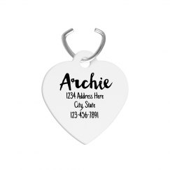 Custom Heart Shaped Pet Tags