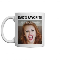Custom Upload Photo Mug: Dad's Favorite