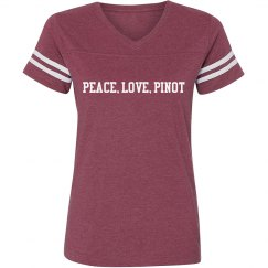 Peace, Love, Pinot Team T (maroon)