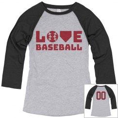 Customizable Love Baseball