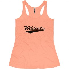 Vintage orange racerback women's tank