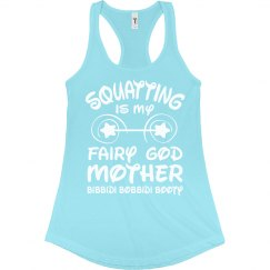 Princess Squatting Workout Tank