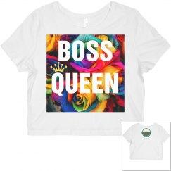 EBIP Rose Boss Queen Crop Top