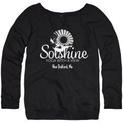 Blue Boatneck Sweatshirt