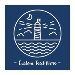 Custom Text Lighthouse Wall Hanging