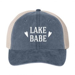 Lake Babe Vintage Blue Trucker Boat Hat