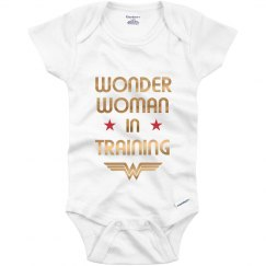 Metallic Wonder Woman Onesie