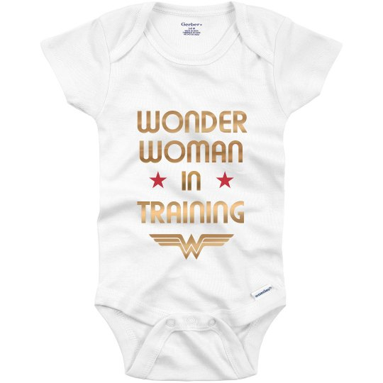 6a9f12982 Metallic Wonder Woman Onesie Infant Onesie
