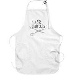 I fix $8 Haircuts salon stylist apron