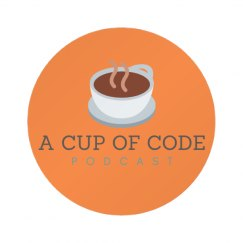 A Cup of Code Podcast Logo Button Pin