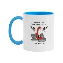Fox Rocks Mug