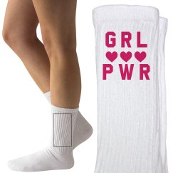 Girl Power Feminist Socks
