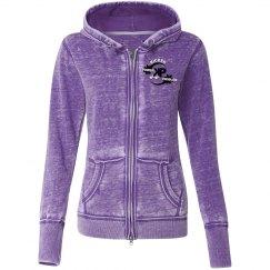 KP Purple - Vintage Zip Hoodie