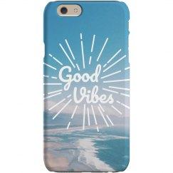 Good Vibes Ocean iPhone Case