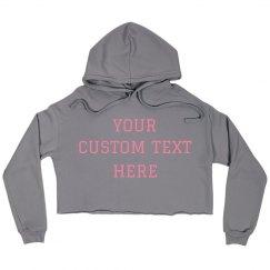 Custom Grey Cropped Hoodie