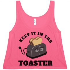 Color Guard Keep It In The Toaster Summer Crop Top