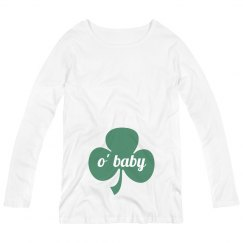 O' Baby St. Patricks Maternity Top
