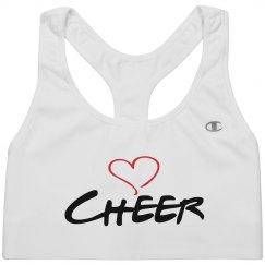 Cheer sports bra