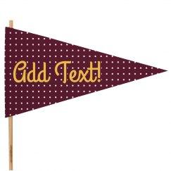 Custom Text Cheer Flag