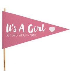 It's a Girl Banner Announcement