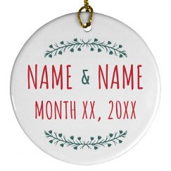 Married Couple Custom Holiday Decor